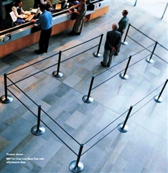 how to set up stanchions