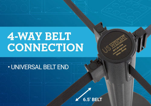 4-way belt connection