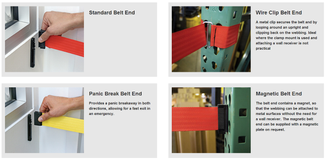 Tensbarriers Belt End Options
