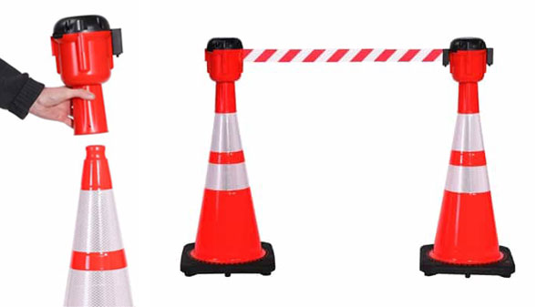 ConePro Traffic Cone Mounted Barriers