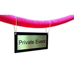 Hanging Velvet Rope Sign - Brass with Brass chain