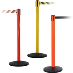 Yellow, Red & Orange Barrier with 8.5' Retractable Belt - QU700