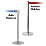 Stainless Steel Barrier with 8.5' Retractable Belt - QU700